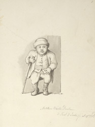 Portrait of Matthew Weston, the 'Durham Dwarf'